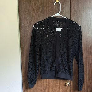 H&M Lace Bomber Jacket
